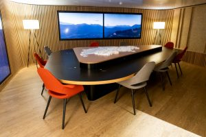 Conference Room in Swiss Senator Lounge at Zurich Airport