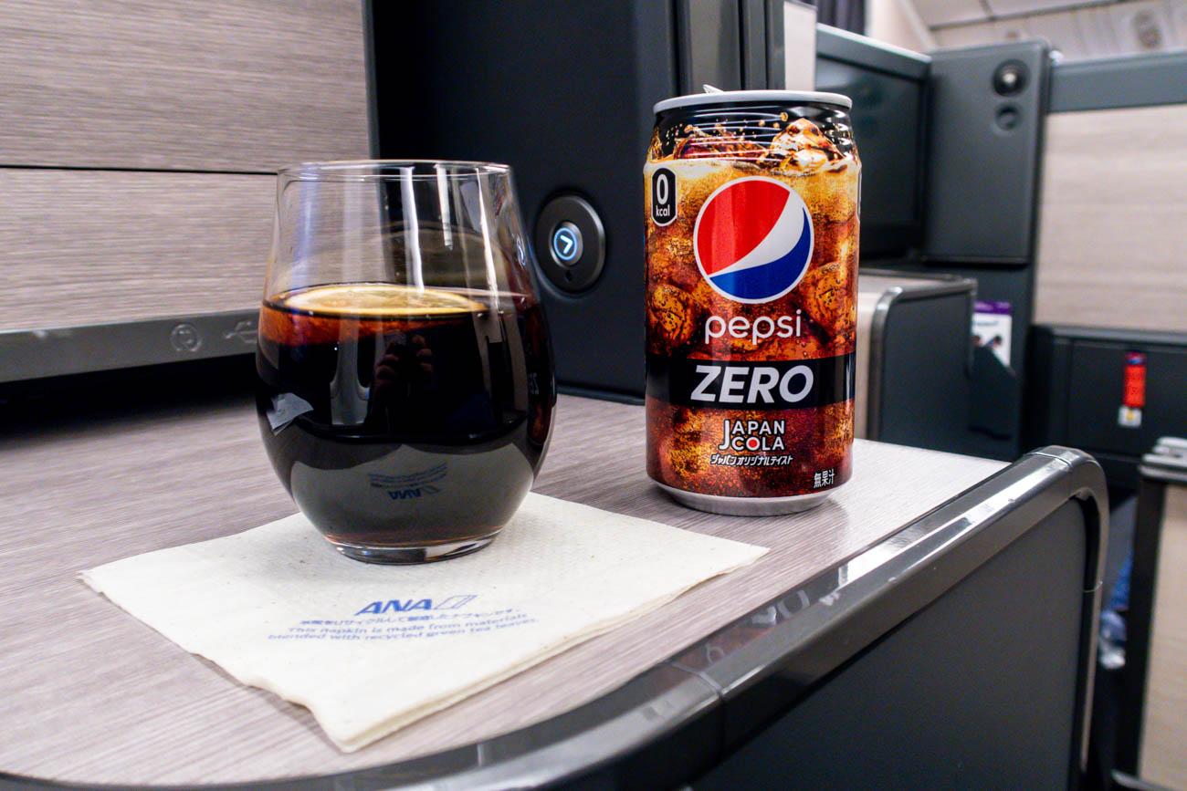 ANA Business Class Drink